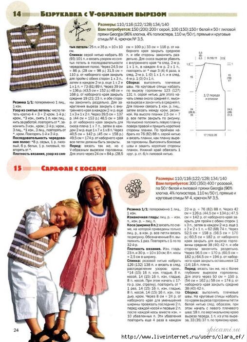 Вязание Спицами для детей.  Безрукавка и Сарафан.