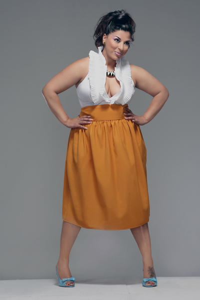 Классическая юбка для полных девушек.