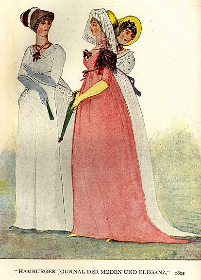 Женские прически эпохи романтизма.