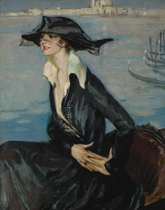 Jean-Gabriel Domergue 1889-1962 Femme en noir a Venise (549x700, 236Kb)