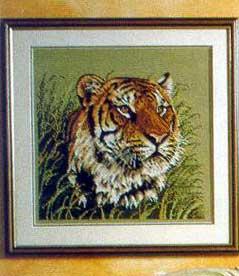 Название схемы: Тигр. = = Описание: Схема для вышивки крестом - Тигр в формате jpg.  Альбом: Маленькие Схемки.
