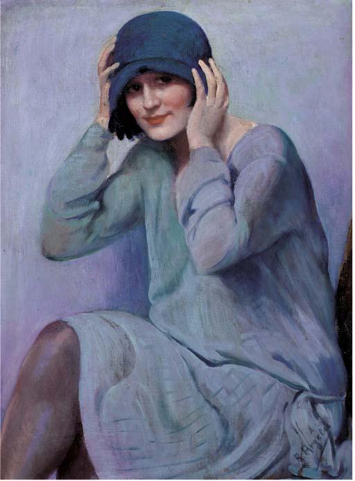 Rafael Escriche ArgelesThe chapeau bleu (512x693, 57Ko)