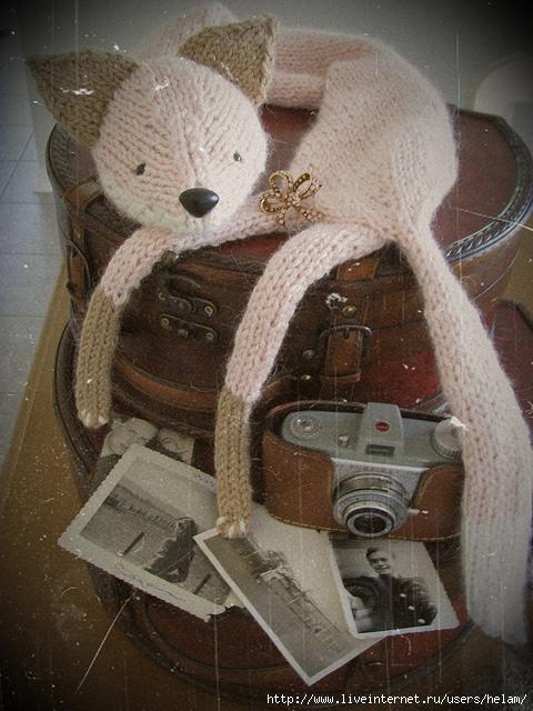 """针织围巾:""""狐狸先生"""" - maomao - 我随心动"""