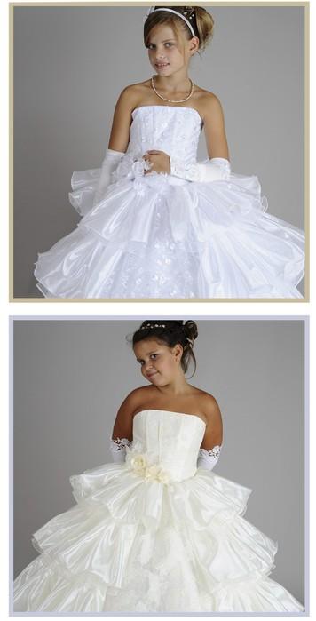 Роскошное пышное бальное платье для девочки 7-12 лет.