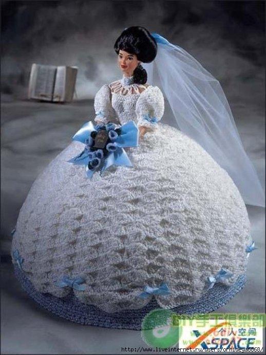 Вязаные платья для кукол.