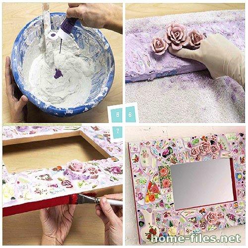 Сделать красивую рамку для зеркала своими руками