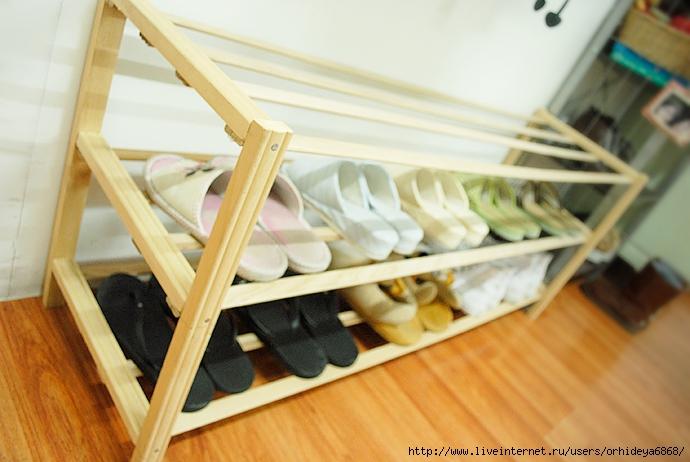 Своими руками сделать полку для обуви