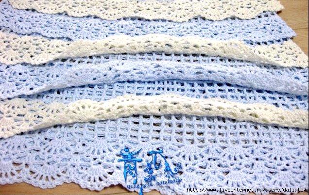 Вязание крючком: Каскадное Платье Крючком ФОТО #4.
