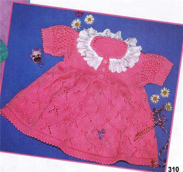 Размеры (немецкие): 68-74 = 6-9 месяцев. свой цитатник или сообщество!  Вязание спицами детского платья из пряжи...