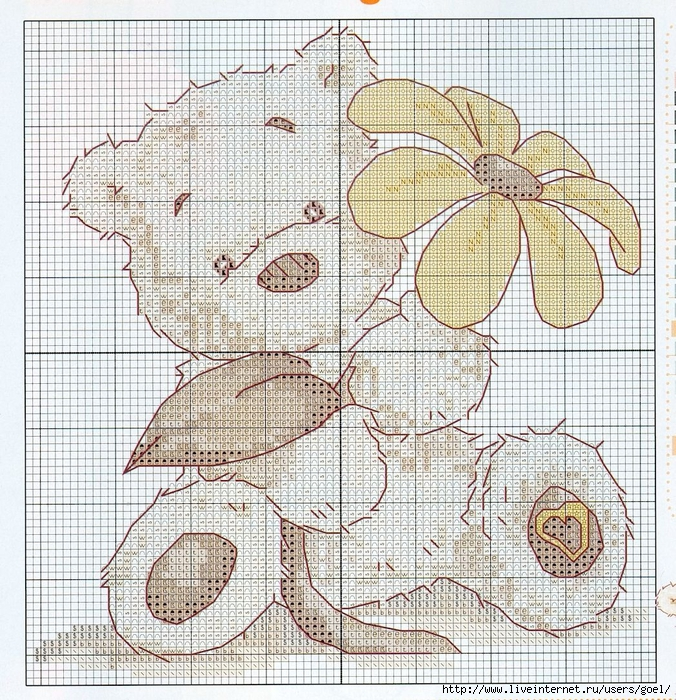 Вышивка крестом - Lickle Ted Collection by DMC (51 схема)