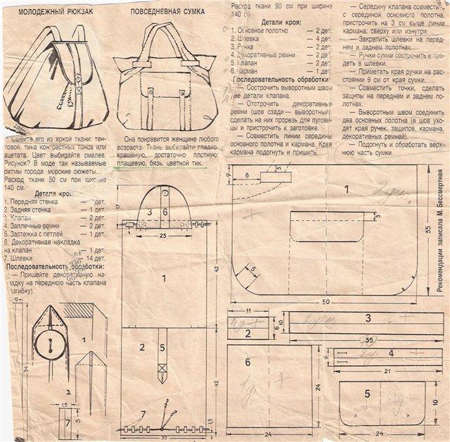 Женские сумки трансформеры выкройки
