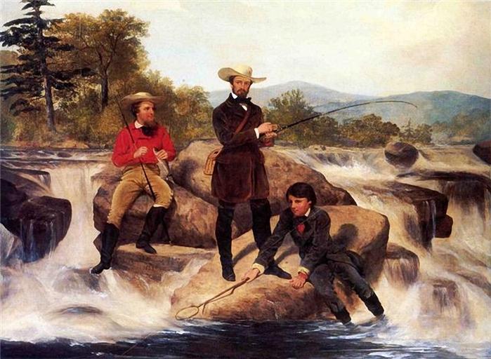 Junius Brutus Stearns Форелевая рыбалка 1853 г (700x512, 287Kb)
