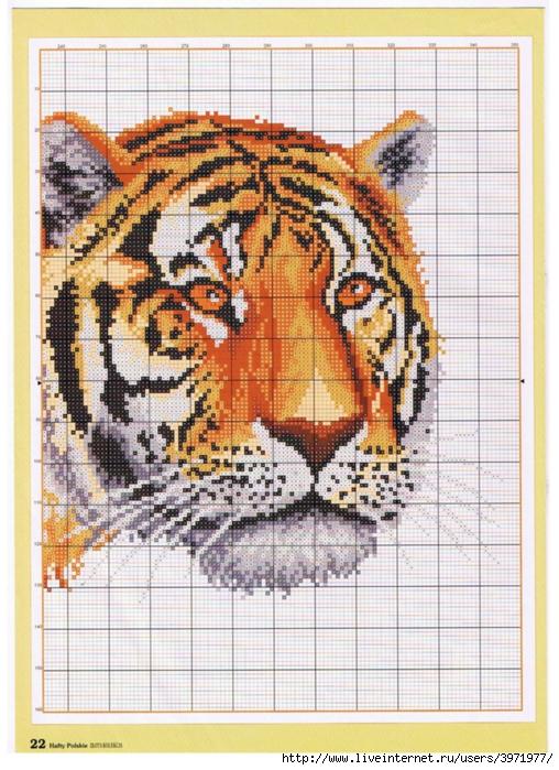 Вышивка кошек и тигров
