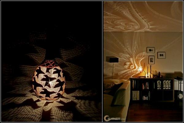 Светильник своими руками из тыквы от Calabarte stetdesign
