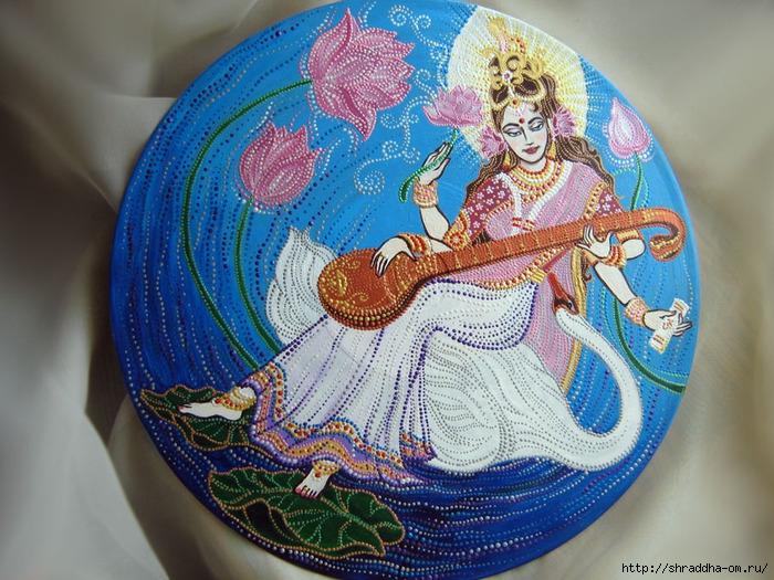 Сарасвати для Сатьясвати, акрил, Shraddha 1 (700x525, 337Kb)