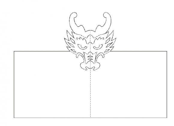 Схемы для открыток в технике киригами.