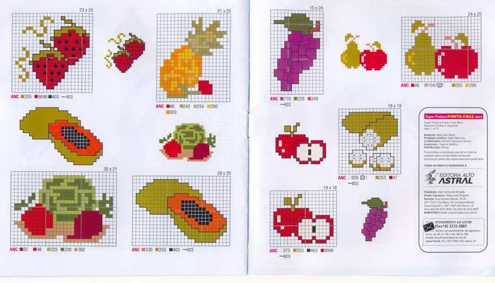 Схема для вышивки крестом для начинающих фрукты7