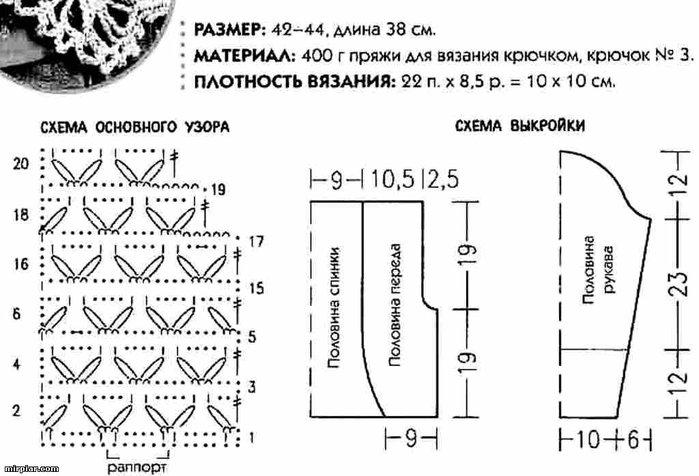 Понять схему вязание