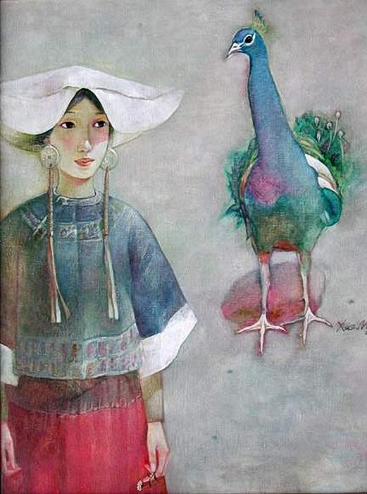 xue_mo_with_bird (521x700, 265Kb)