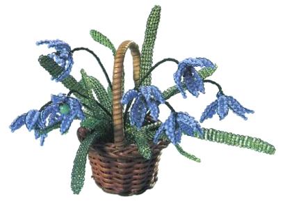"""Книга  """"Цветы из бисера """" М.Федотовой и Г.Валюх.  Это сборник схем плетения цветов из бисера: роза, пролески..."""