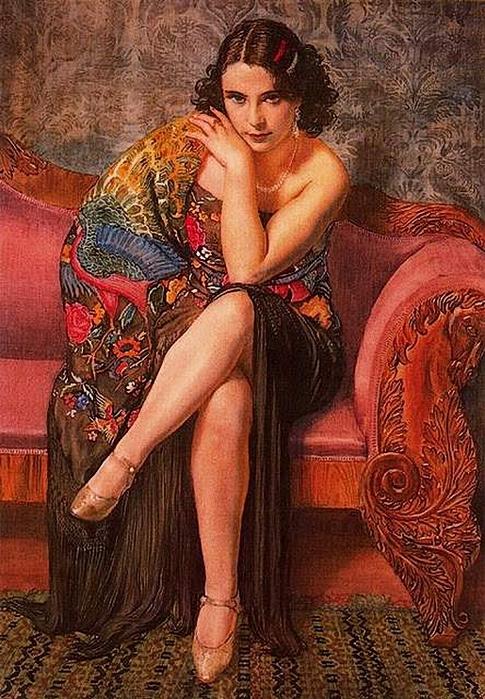 George Owen Wynne Apperley.Peacock Shawl 1927  (485x700, 331Kb)