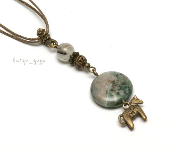 crafty jewelry: gravel pendants and beads