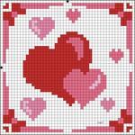 ...валентинки своими руками,валентинов день,день влюбленных,день всех влюбленных,сердечко из бисера,схемы.