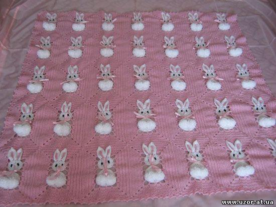 Ребенок крючком кролика одеяло - maomao - Я двигать ногами