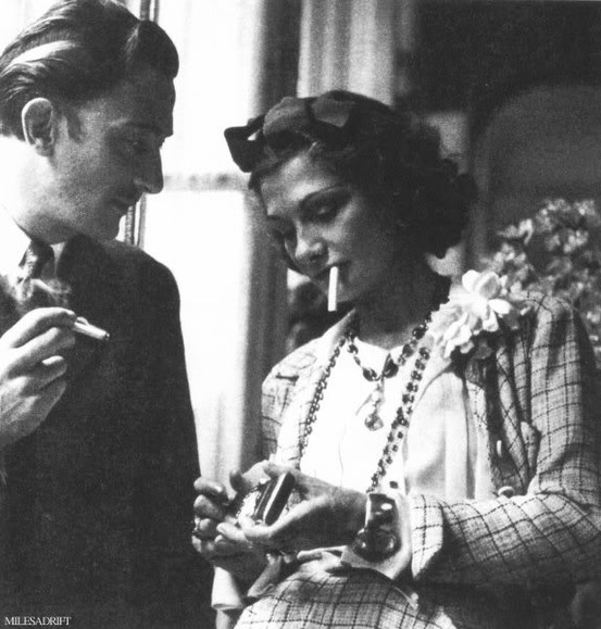 Saldavor Dali and Coco Chanel ak (553x579, 80Kb)