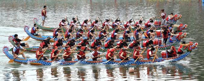 гонки лодок драконов