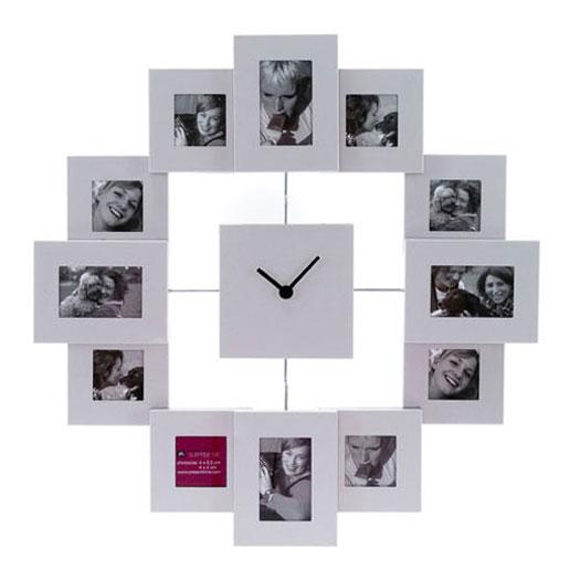 Настенные часы из фото своими руками