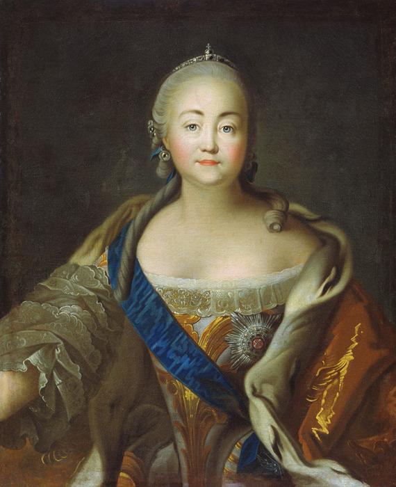 Портрет императрицы Елизаветы Петровны. Холст, масло (570x700, 137Kb)