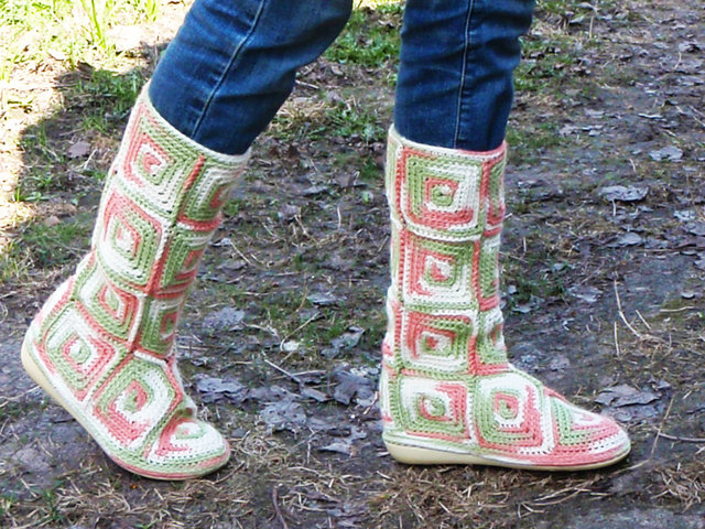 knitted ugg boots in the spring.