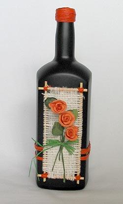 Простой и легкий декор бутылки