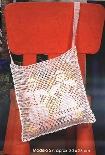 Филейное вязание.  Летние сумки.  Прочитать целикомВ.