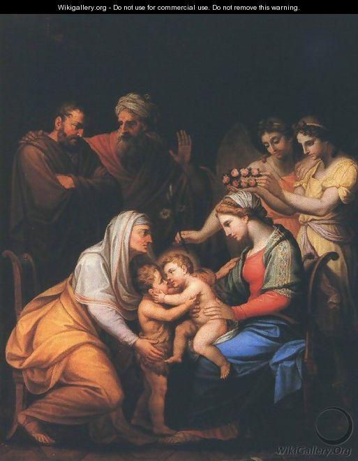 János Mihály Hesz Holy Family with Saints - Янош Михай Хес Святое семейство со святыми (513x660, 46Kb)