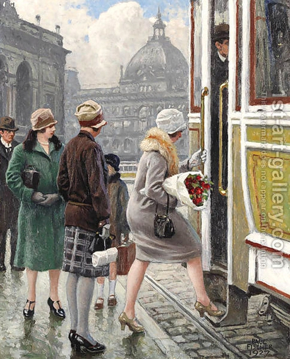 Paul-Gustave Fischer.  A l'arrêt de tram (566x700, 343Kb)