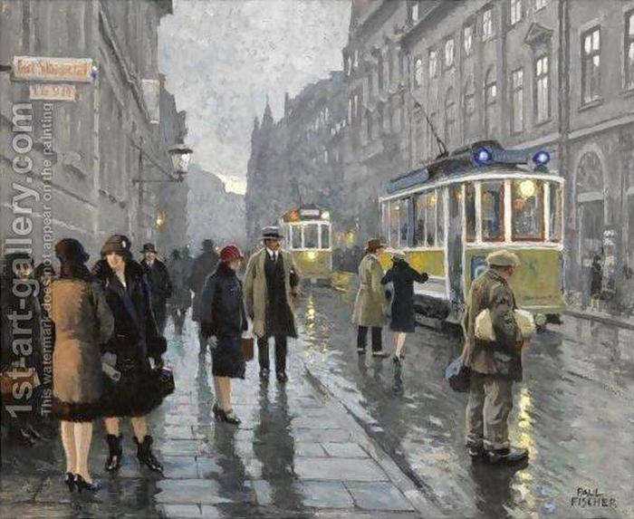 Paul-Gustave Fischer.  Bredgade, Copenhague (700x573, 290Kb)