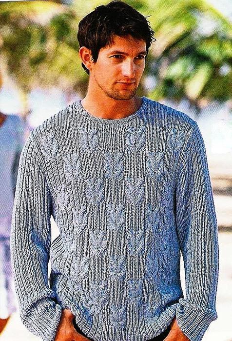 Красивые вязание мужских джемперов
