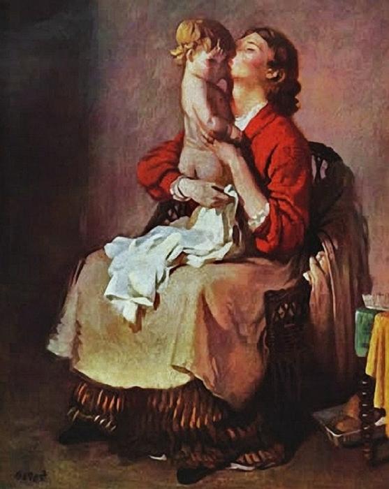 William_Orpen_(Irish_Painter,_1878-1931)__Lady_Orpen_and_Child_(2) (557x700, 251Kb)