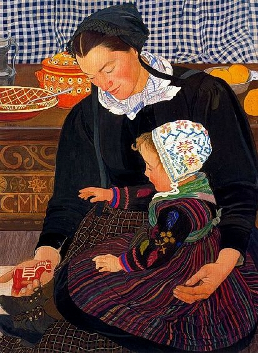 Ernest Bieler (Swiss artist, 1863–1948) Mother and Child (508x695, 367Kb)