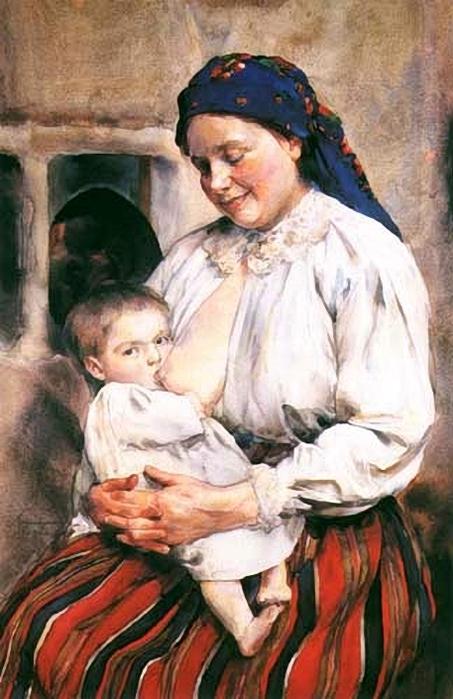 Aleksander Augustynowicz (1865 – 1944, Polish)maternity1 (453x700, 241Kb)