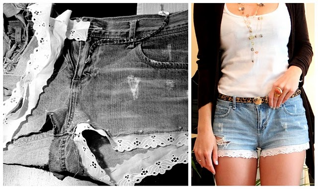 Видео как сделать своими руками шорты из джинс