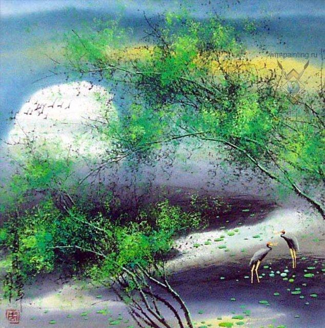 У Чань Янь ( Ву Чанган). Летний пейзаж (634x640, 124Kb)