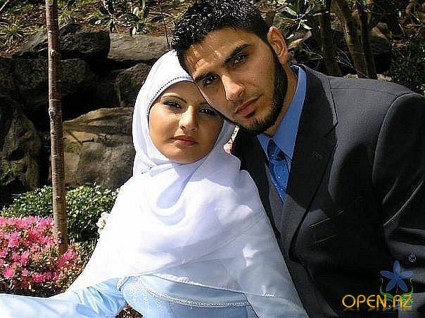 Мусульманские молодожены. жениха. Исламская. Ислам - одна из самых