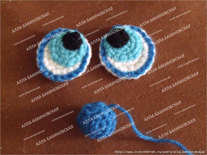 Глазки для игрушек крючком