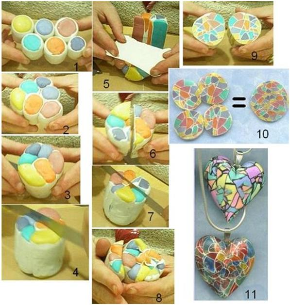 Мозаика из полимерной глины