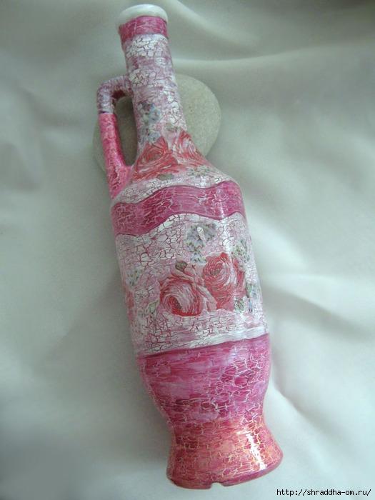 Набор Розовый цвет, зеркало, шкатулки, магнит на холодильник, акрил, декупаж, кракелюр, Shraddha 10 (525x700, 204Kb)