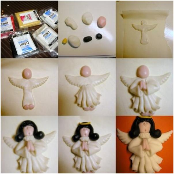 Как слепить ангела  из пластилина 126
