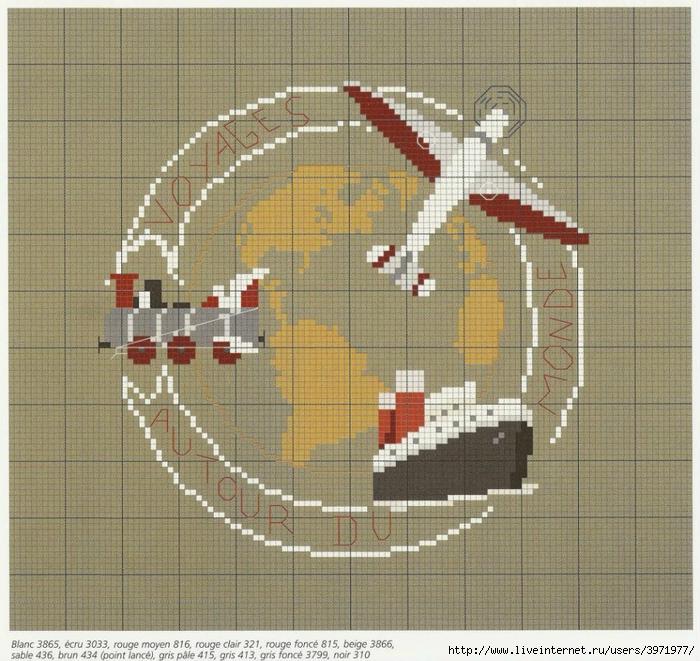 Схема вышивки путешественники 33